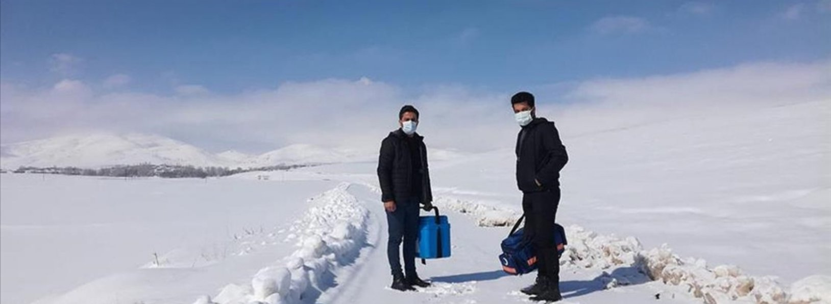 Despite the harsh winter conditions, vaccination continues in Van