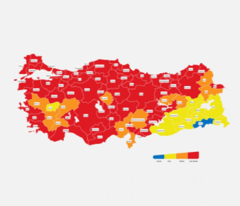 Updated Covid-19 Risk Map of Turkey announced…