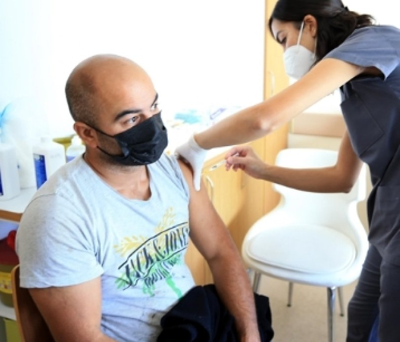Vaccinations campaigns are ongoing in Kırklareli, the number one in the second dose of vaccination.
